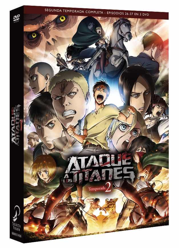 DVD ATAQUE A LOS TITANES TEMPORADA 2