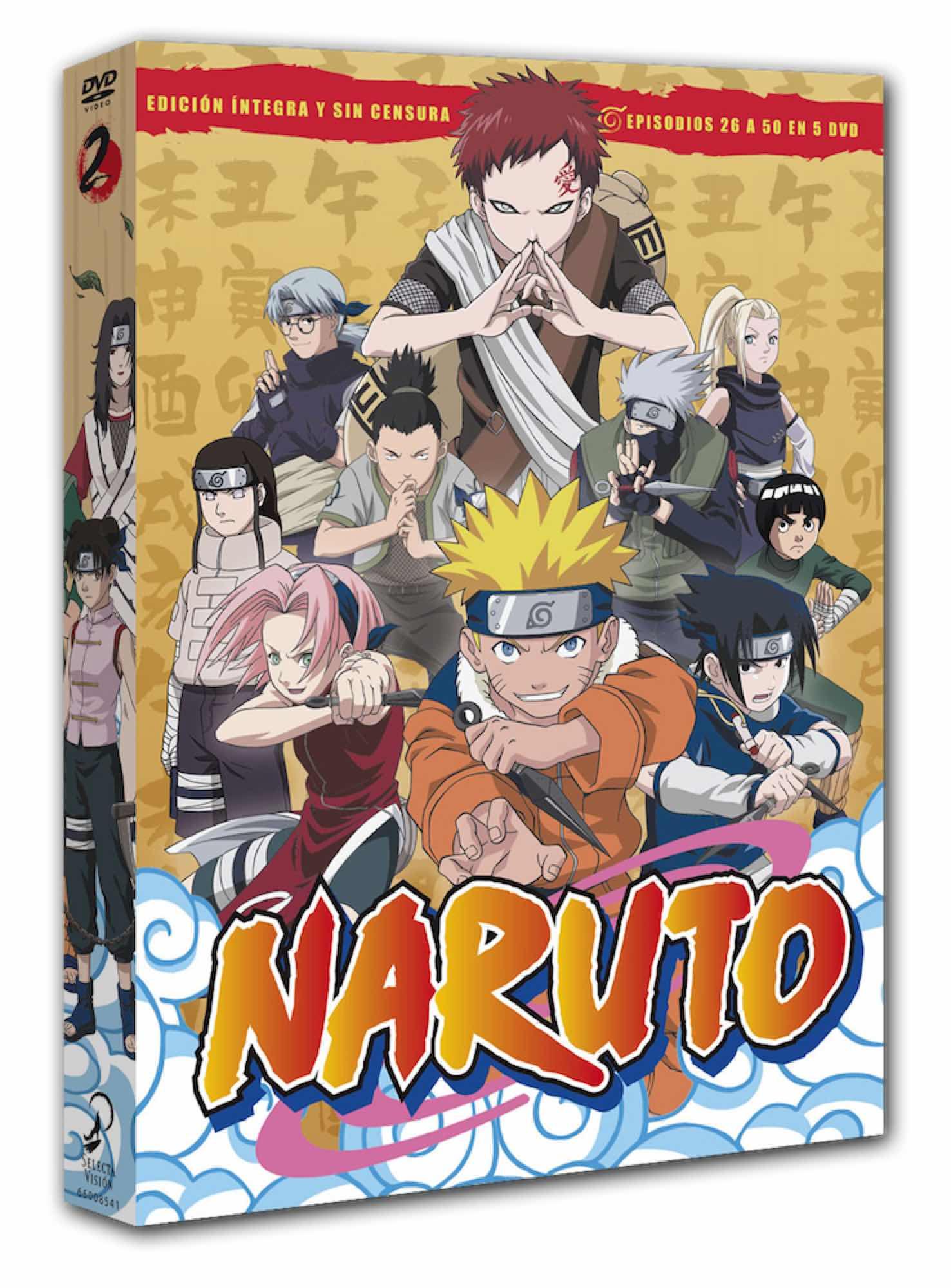 DVD NARUTO BOX 2