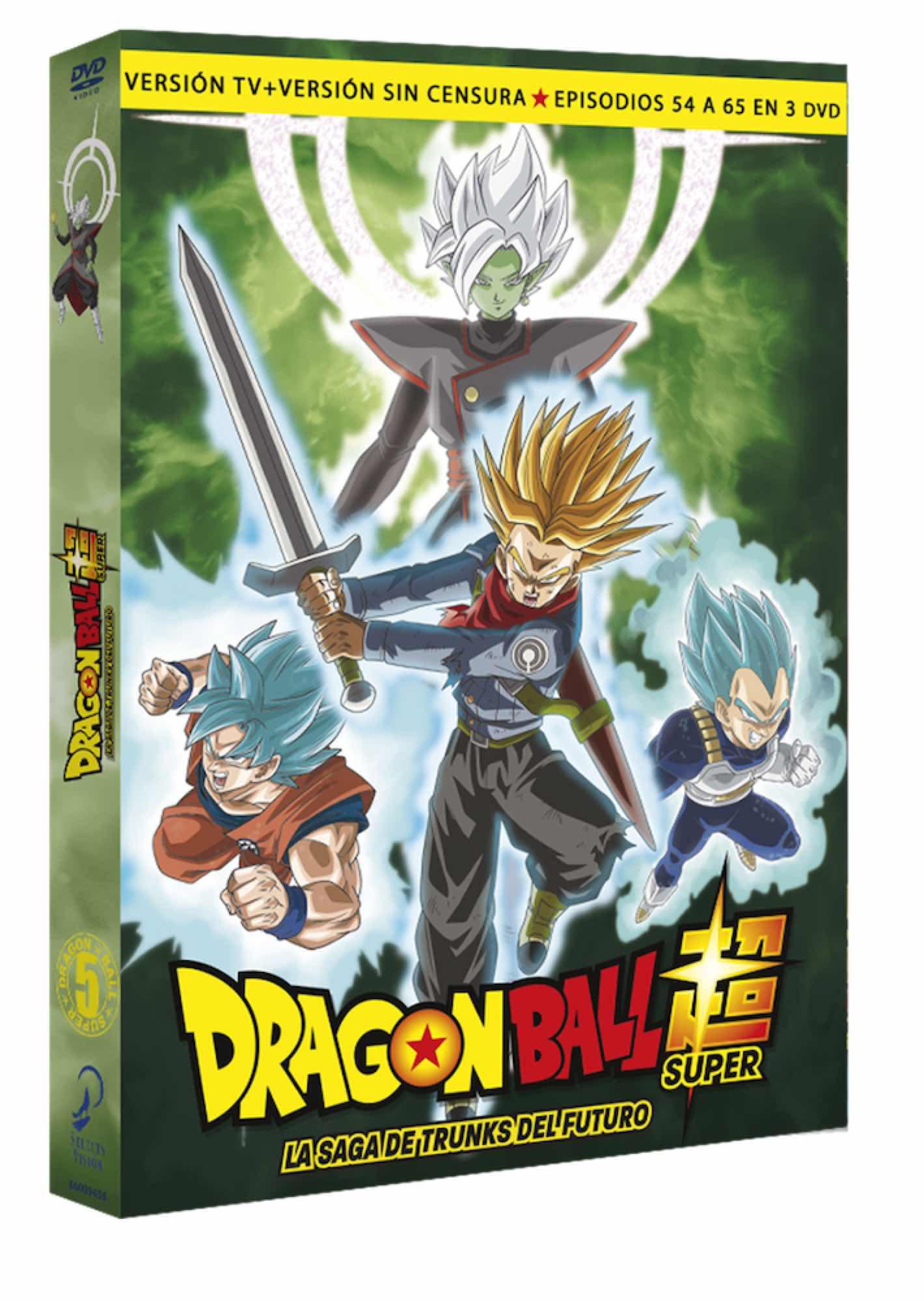 DVD DRAGON BALL SUPER BOX 5. LA SAGA DE TRUNKS DEL FUTURO