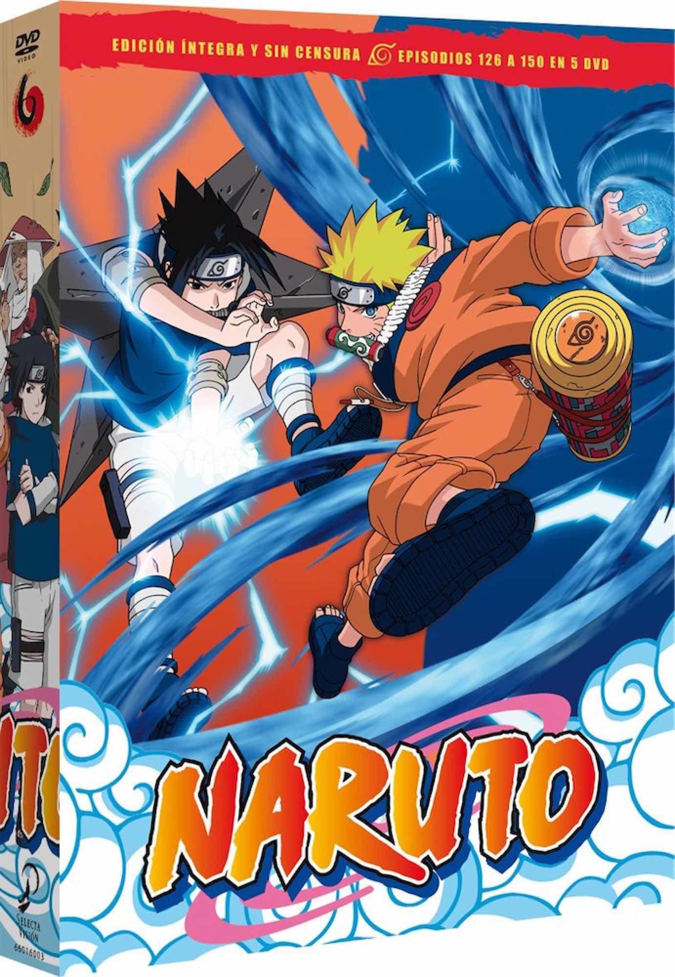 DVD NARUTO BOX 6