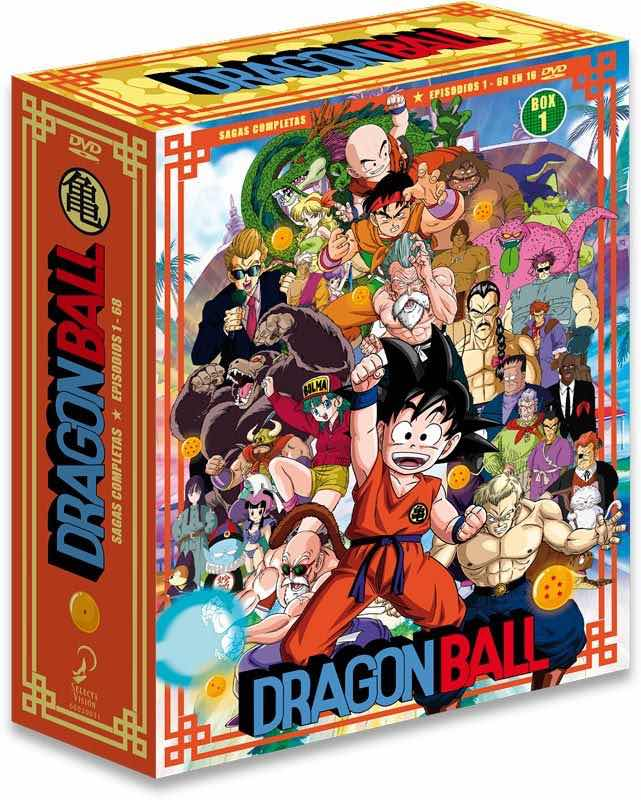 DVD DRAGON BALL SAGAS COMPLETAS BOX 1