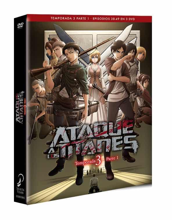 DVD ATAQUE A LOS TITANES TEMPORADA 3