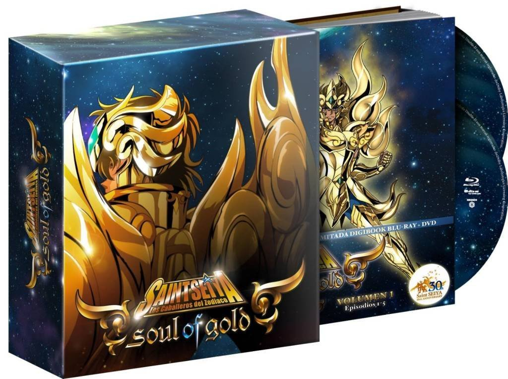 SAINT SEIYA SOUL OF GOLD VOL.1. EDICION DIGIBOOK 30 ANIVERSARIO. BLU-RAY