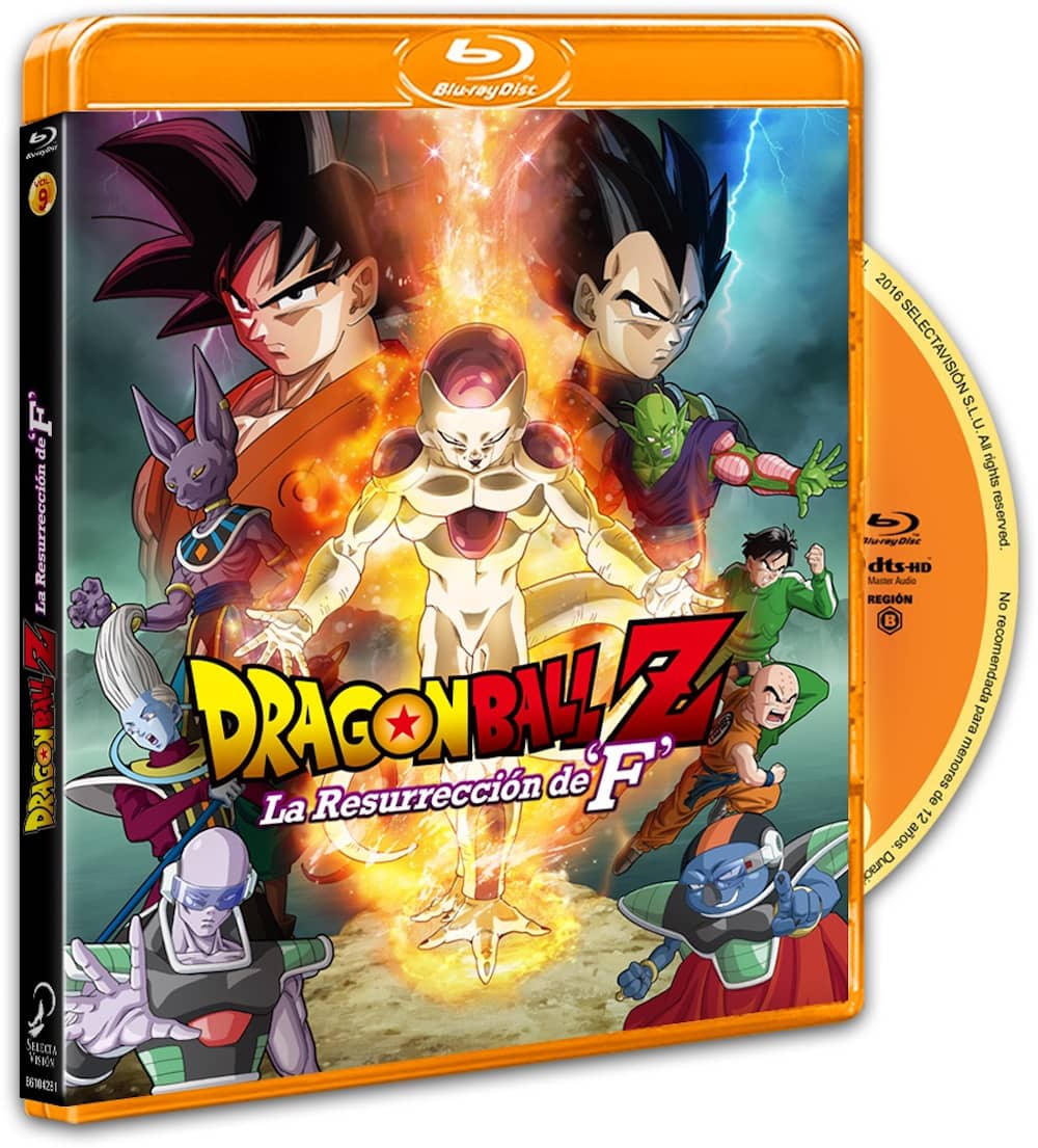 DRAGON BALL Z. PELICULA 15: LA RESURRECCION DE F.  BLURAY