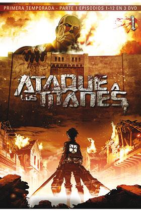 ATAQUE A LOS TITANES TEMP 1 PARTE 1 (3 DVD) - EPISODIOS 1 A 13