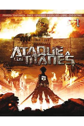 ATAQUE A LOS TITANES TEMP 1 PARTE 1 (3 BD) - EPISODIOS 1 A 13