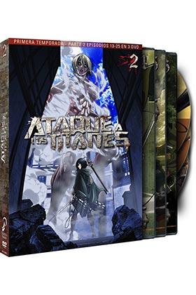 ATAQUE A LOS TITANES TEMP 1 PARTE 2 (3 DVD) - EPISODIOS 13  A 25