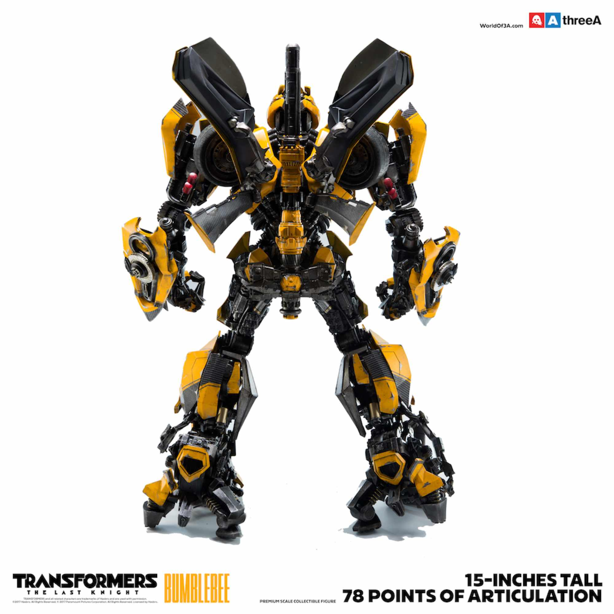 BUMBLEBEE FIGURA 38 CM TRANSFORMERS THE LAST KNIGHT THREEAZERO