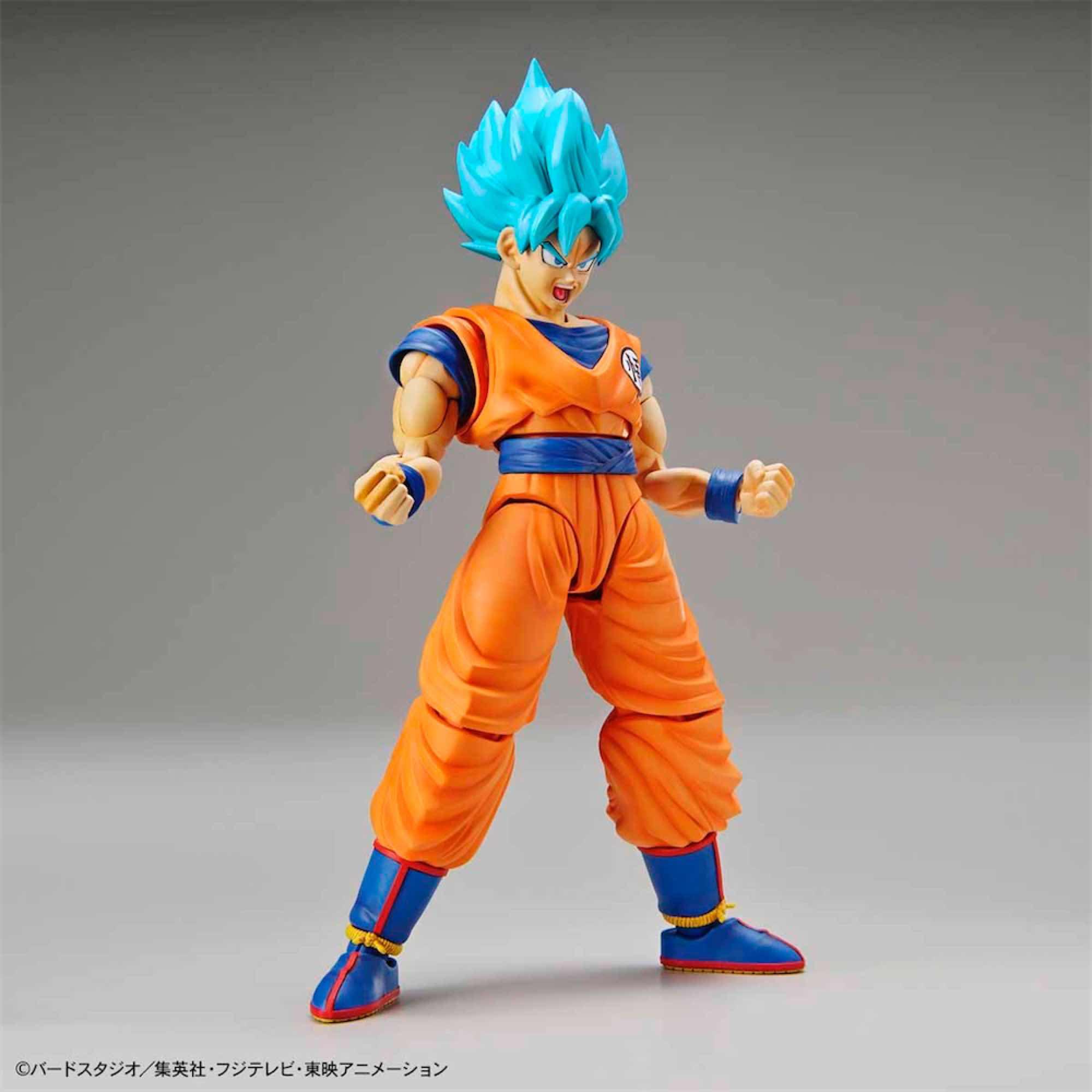 SON GOKU SUPER SAIYAN GOD BLUE MODEL KIT FIGURA 14 CM DRAGON BALL Z FIGURE-RISE STANDARD