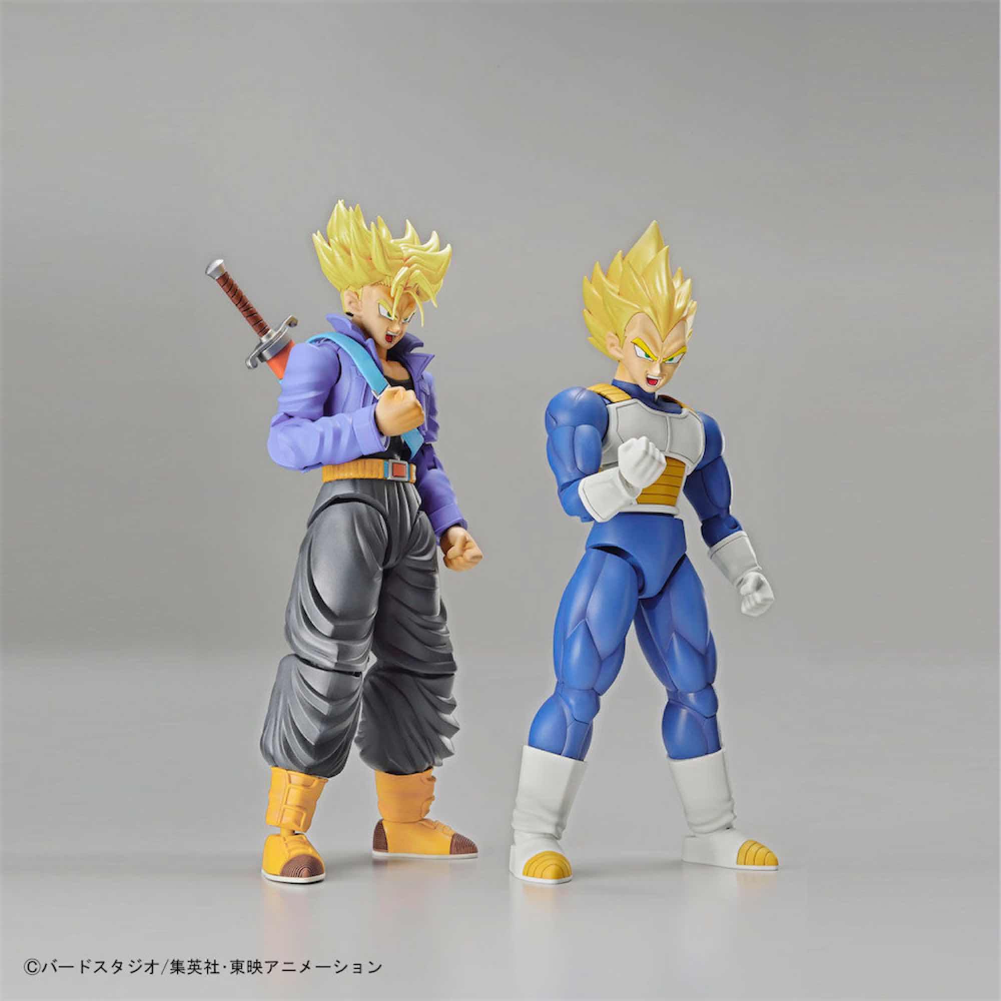 TRUNKS SS & VEGETA SS SET MODEL KIT 2 FIGURAS 16 CM DRAGON BALL Z FIGURE-RISE STANDARD