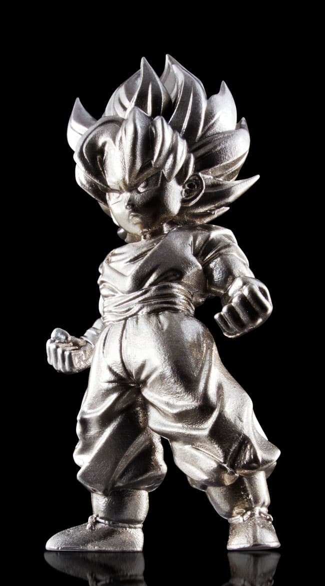 SUPER SAIYAN SON GOKU MINI FIGURA 7 CM DRAGON BALL Z SERIES ABSOLUTE CHOGOKIN