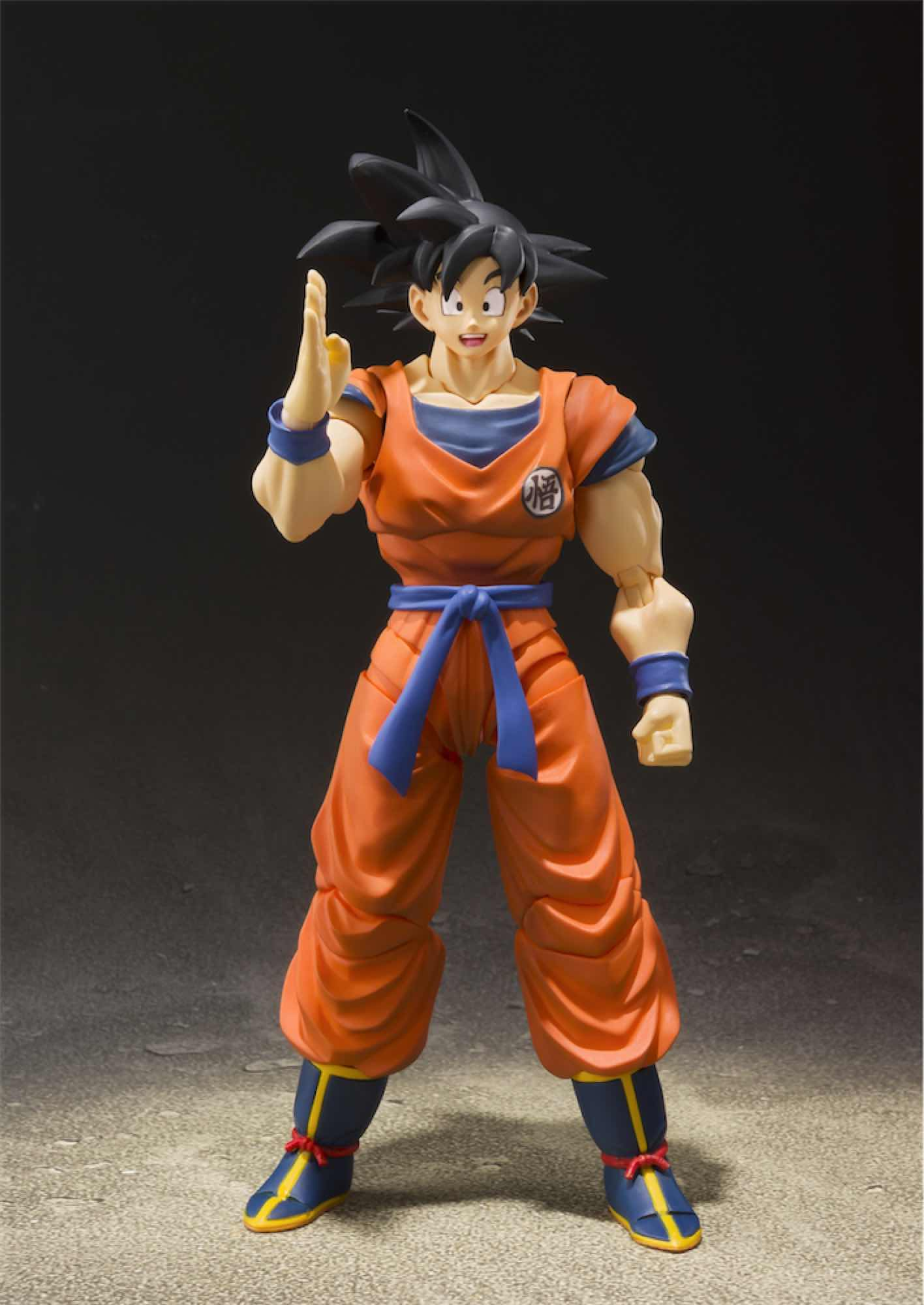 SON GOKU SAIYAN RAISED ON EARTH FIGURA 14 CM DRAGON BALL Z SH FIGUARTS