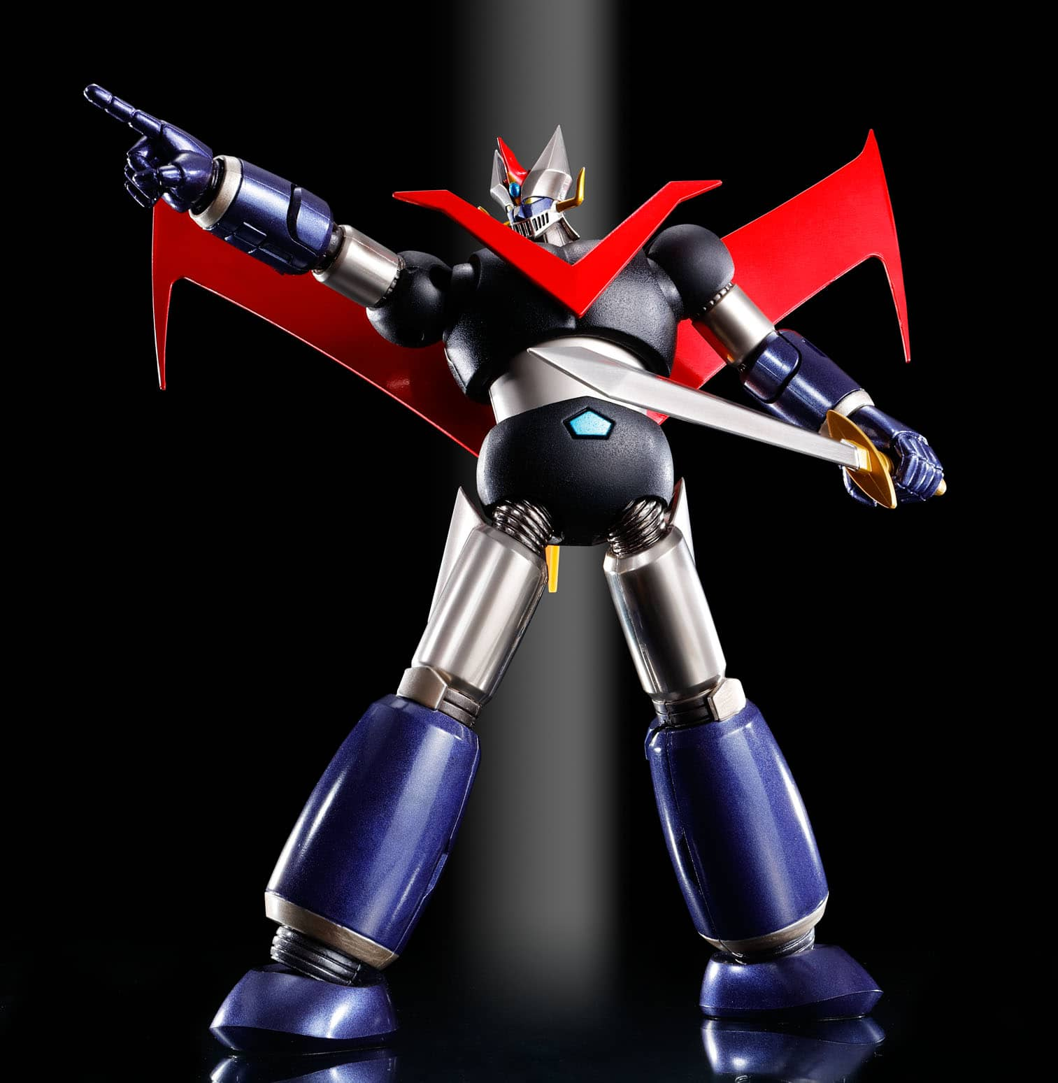 GREAT MAZINGER KUROGANE FINISH FIGURA 14 CM GREAT MAZINGER SUPER ROBOT CHOGOKIN