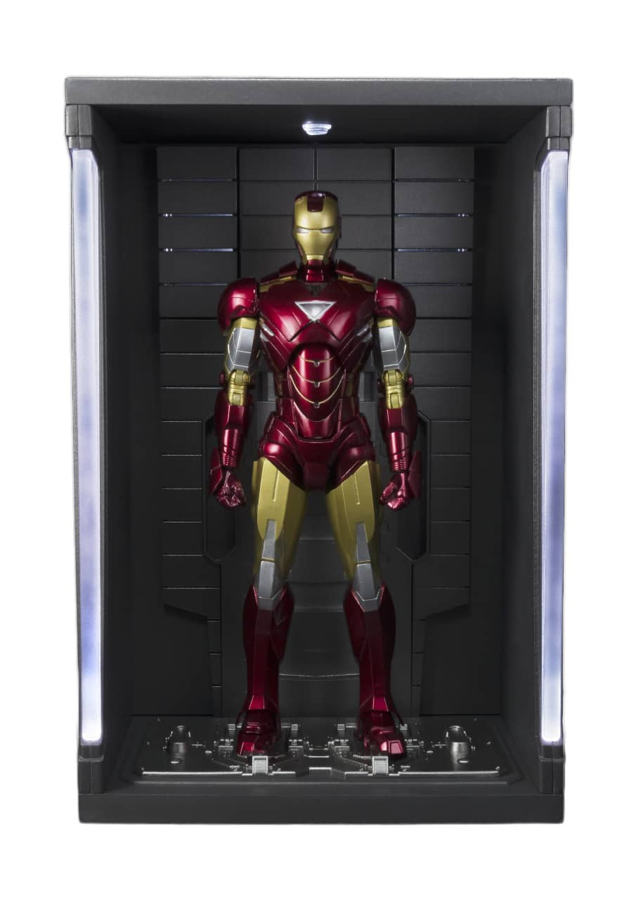IRON MAN MK VI + SET HALL DE ARMADURAS FIGURA 15 CM MARVEL IRON MAN S.H. FIGUARTS