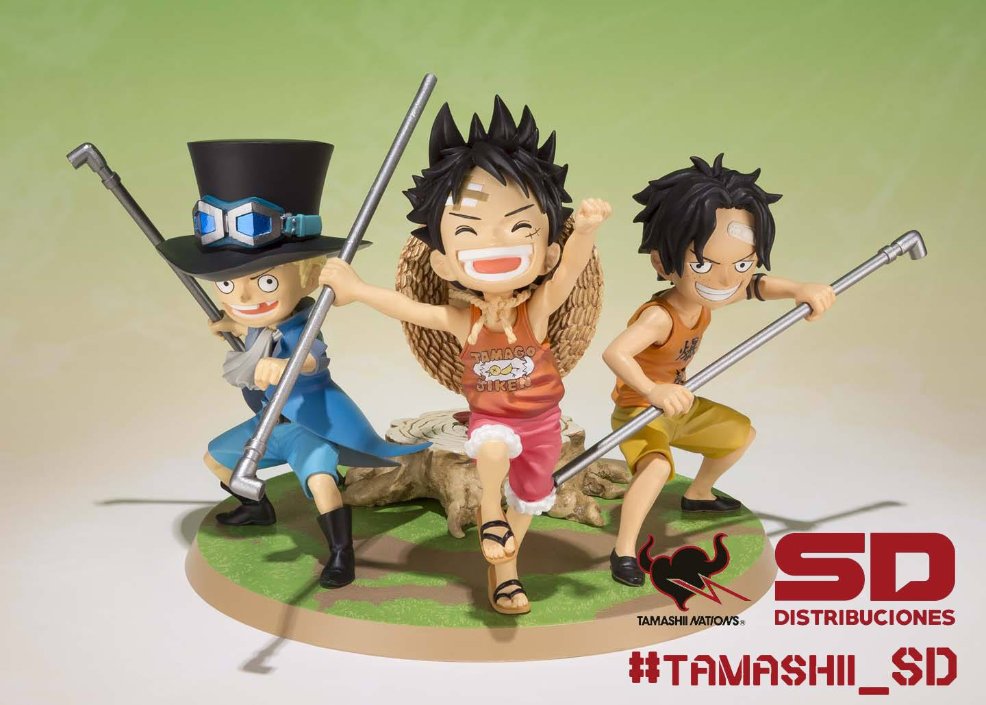 LUFFY ACE Y SABO SET 3 FIGURAS 9 CM ONE PICE A PROMISE OF BROTHERS FIGUARTS ZERO