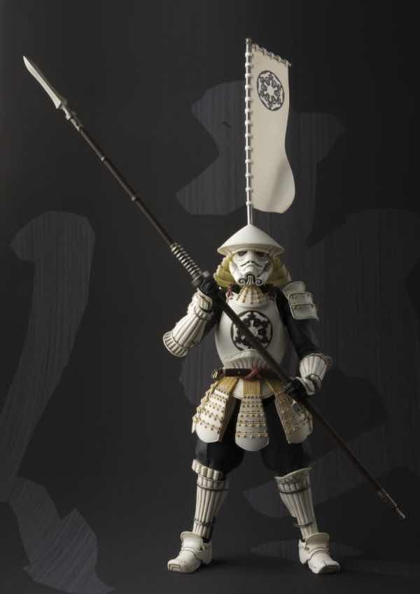 SAMURAI YARI ASHIGARU STORMTROOPER FIGURA 18 CM STAR WARS MEISHO MOVIE REALIZATION