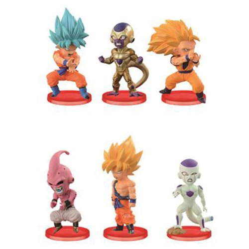 BATTLE OF SAIYANS VOL 3 SET DISPLAY 6 FIGURAS 4,5 CM DRAGON BALL Z WCF