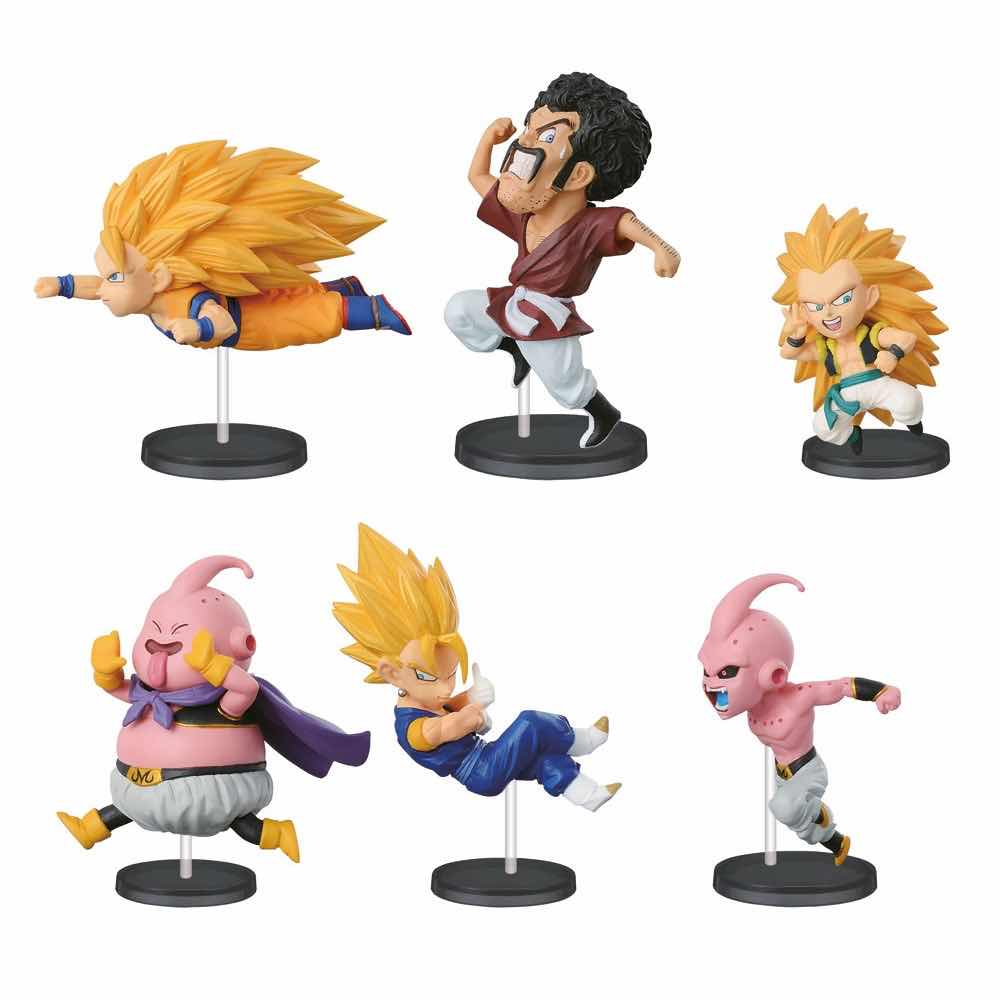 HISTORICAL CHARACTERS VOL 3 DISPLAY 6 FIGURAS 7 CM DRAGON BALL Z WCF