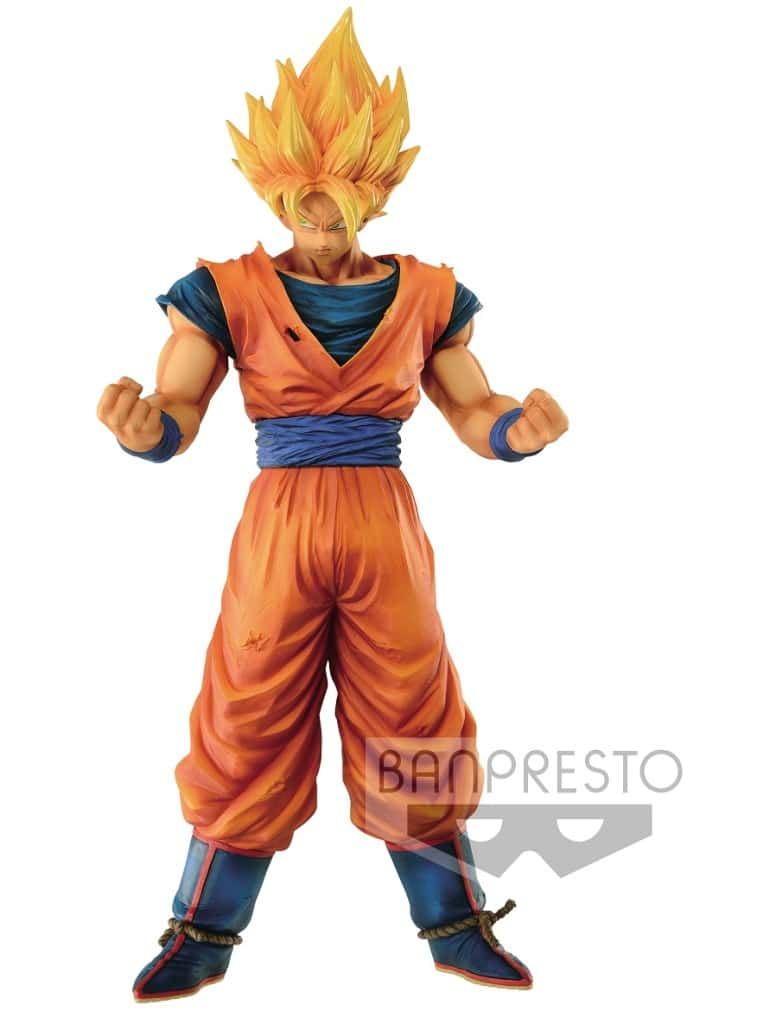SUPER SAIYAN SON GOKU FIGURA 28 CM DRAGON BALL RESOLUTION OF SOLDIERS GRANDISTA