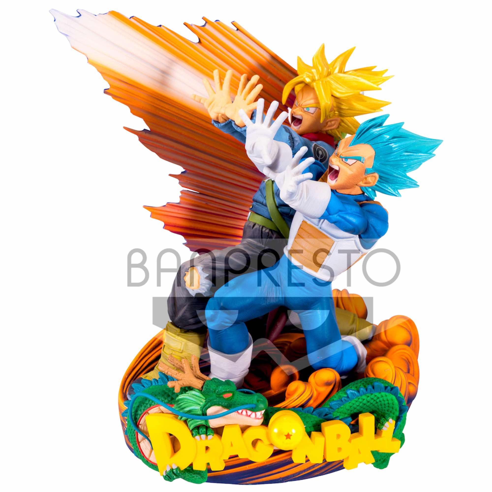 VEGETA & TRUNKS FIGURA 18 CM DRAGON BALL SUPER MASTER STAR DIORAMA