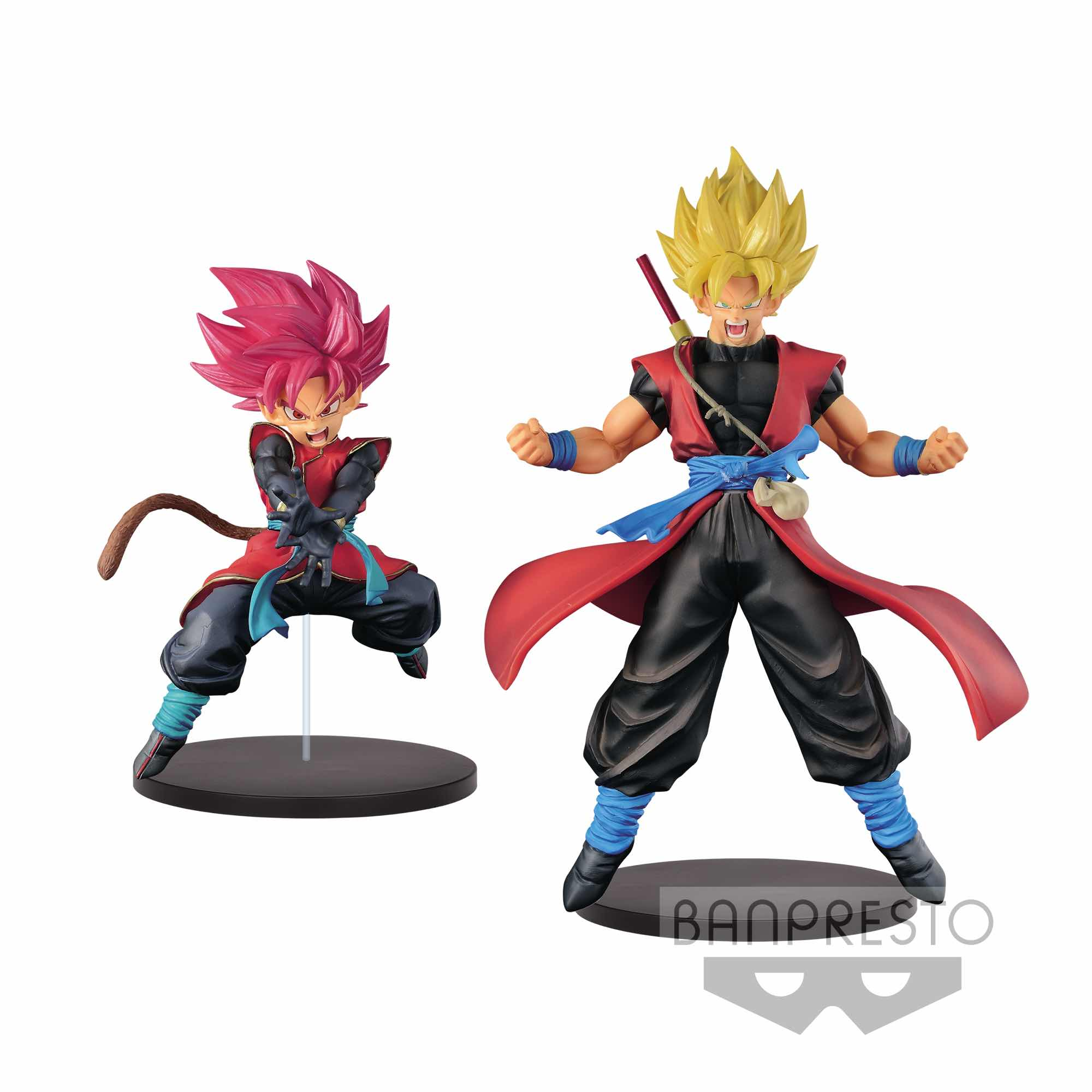 SAIYAN (CHICO) AVATAR & SON GOKU XENO SET 2 FIG 18 CM SUPER DRAGON BALL HEROES DXF