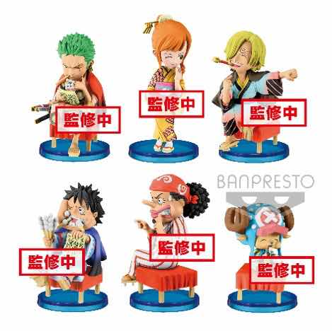 SET 6 FIGURAS 7 CM ONE PIECE COLLECTABLE FIGURE -JAPANESE STYLE-