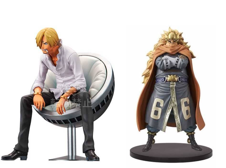 SANJI AND JUDGE SET 2 FIGURAS 11 CM ONE PIECE GRANDLINE DXF VOL 3