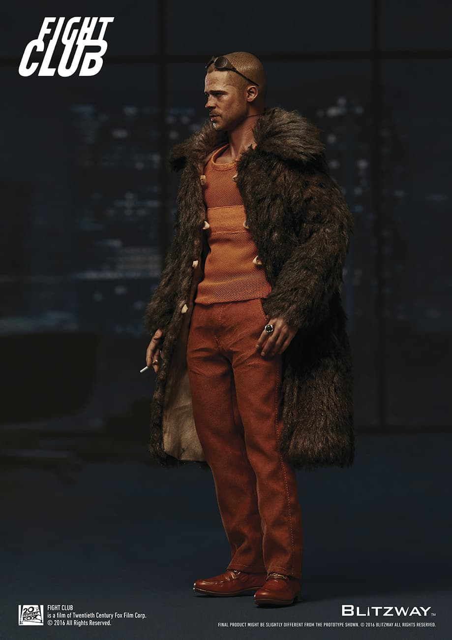 TYLER DURDEN BRAD PITT FUR COAT VERSION FIGURA 30,5 CM FIGHT CLUB