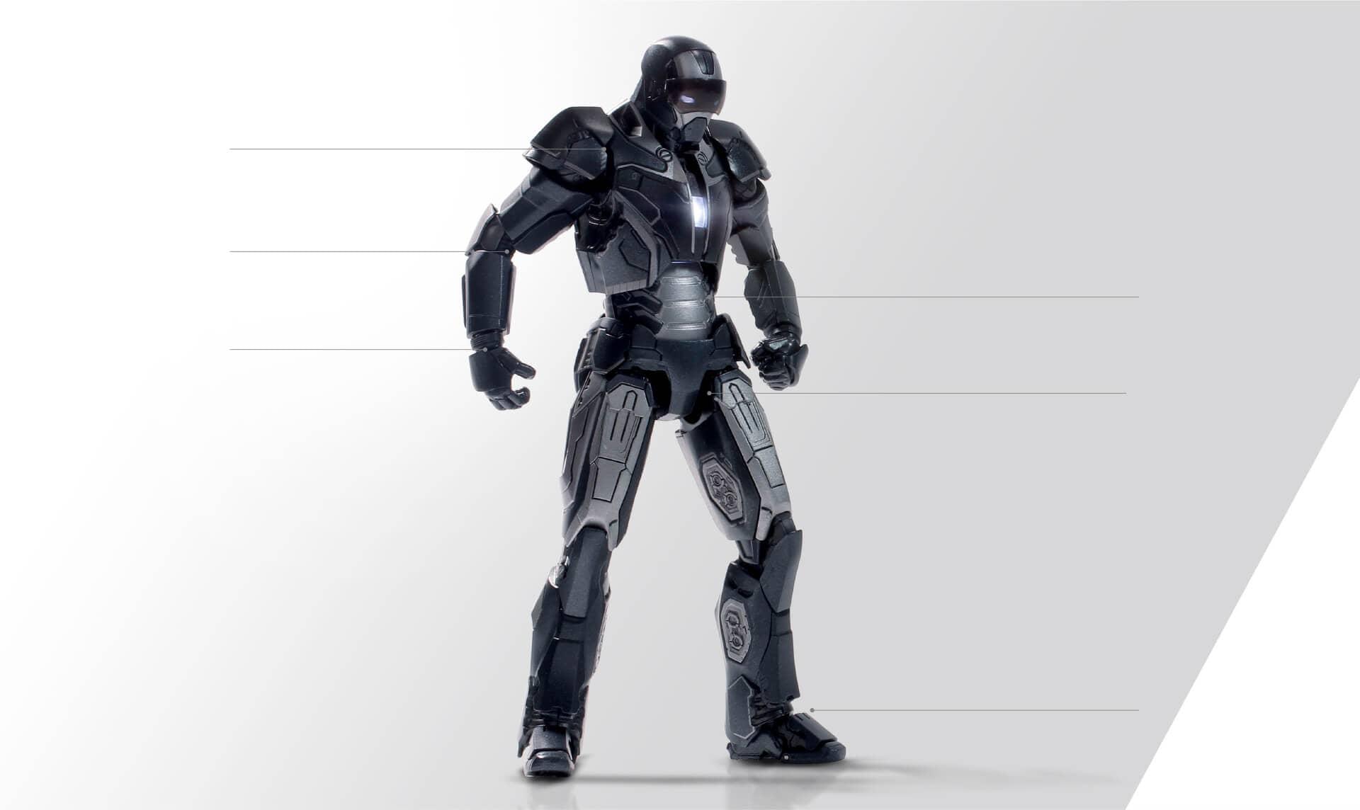 IRON MAN MK40 SHOTGUN FIGURA METAL 15,3 CM MARVEL IRON MAN 1/12 SCALE COLLECTIBLE FIGURE