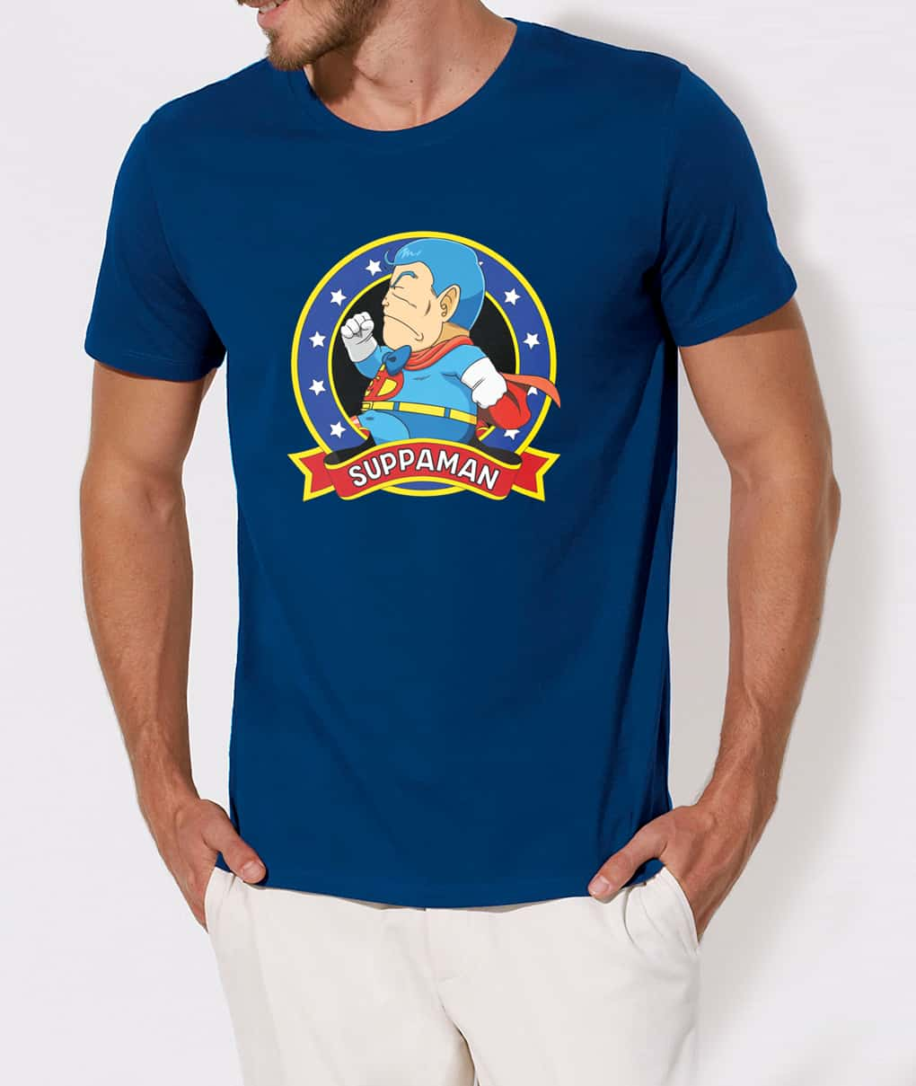 SUPPAMAN CORRIENDO CAMISETA AZUL CHICO TALLA XL DR SLUMP