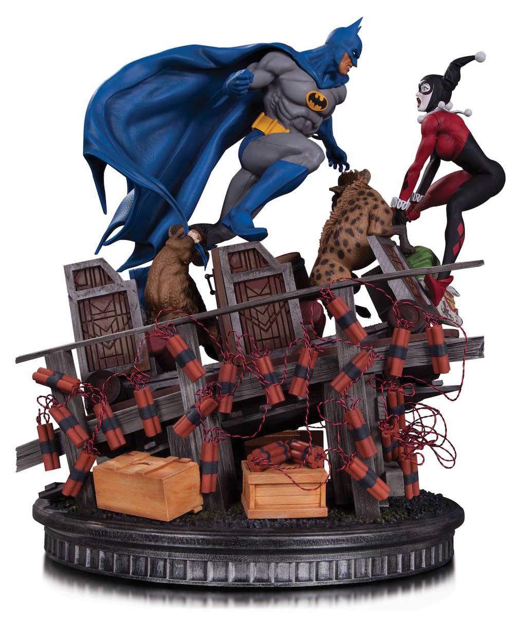 BATMAN VS HARLEY QUINN BATALLA ESTATUA 35,5 CM DC COMICS