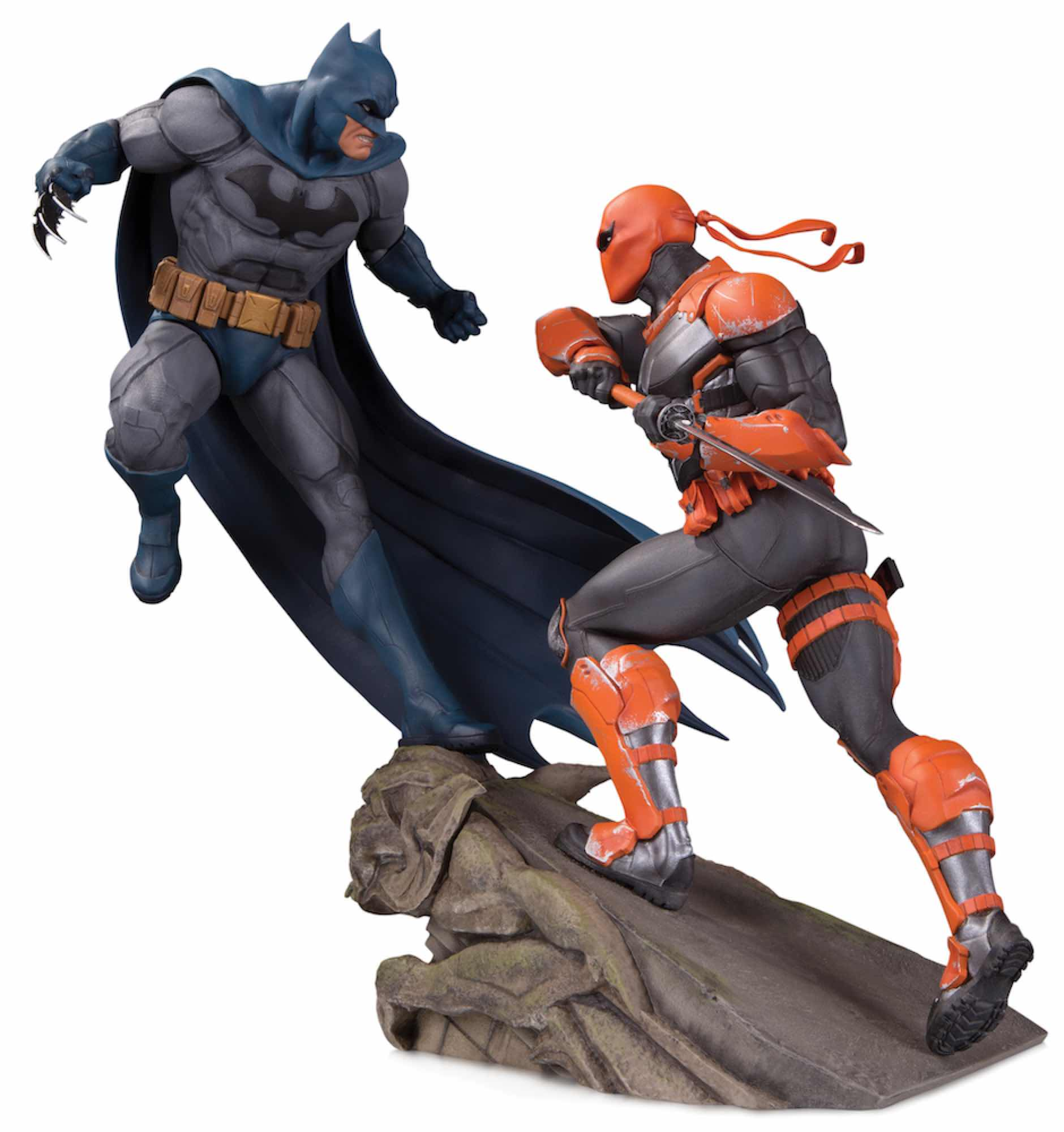 BATMAN VS DEATHSTROKE ESTATUA RESINA 30 CM BATTLE STATUE