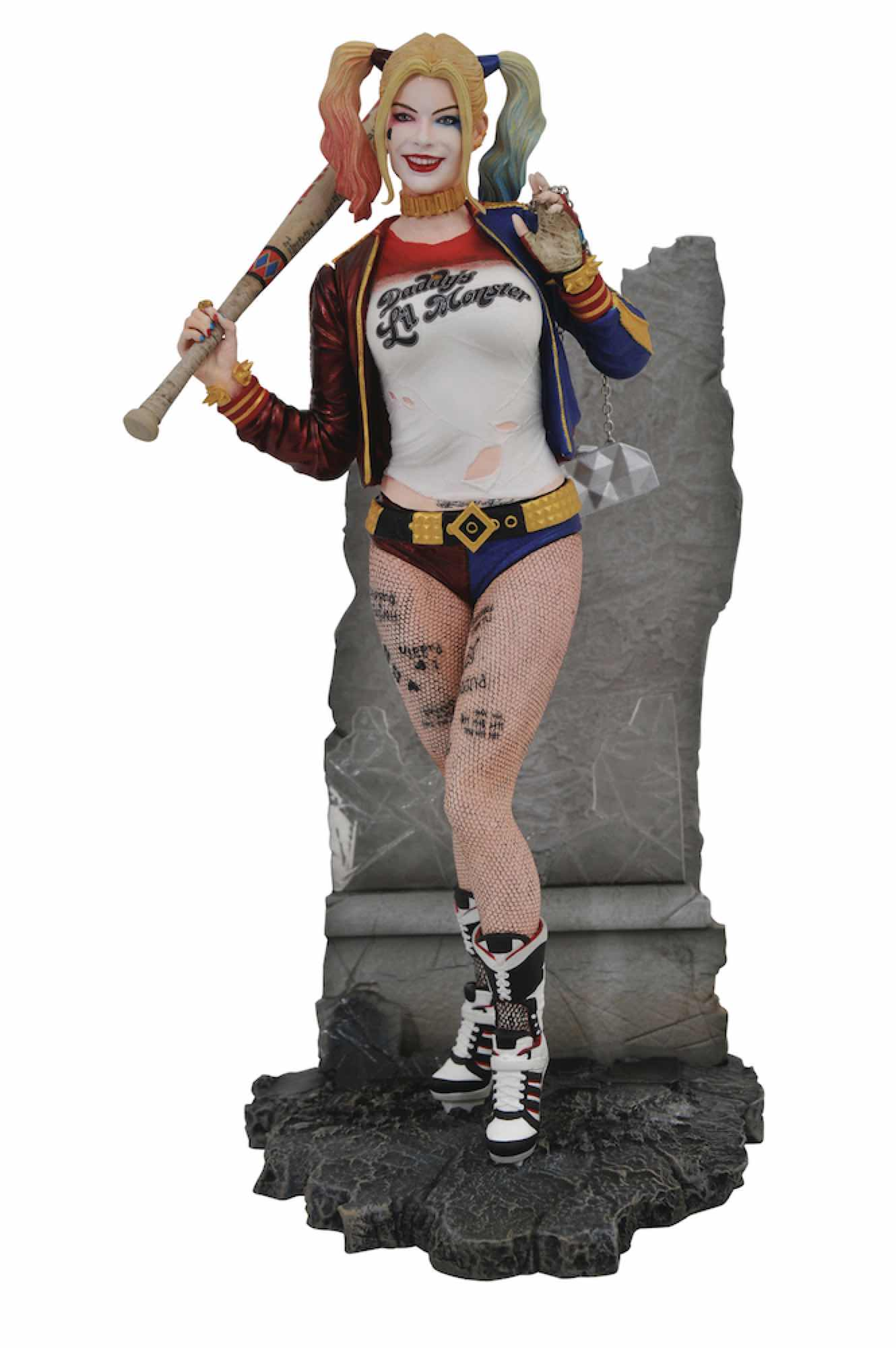 HARLEY QUINN DIORAMA ESTATUA DC MOVIE GALLERY SUICIDE SQUAD