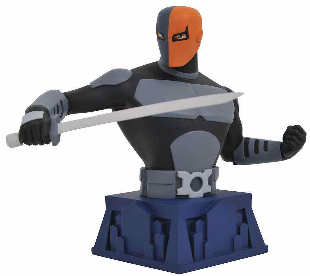 DEATHSTROKE BUSTO RESINA 15 CM THE ANIMATED SERIES BEWARE THE BATMAN