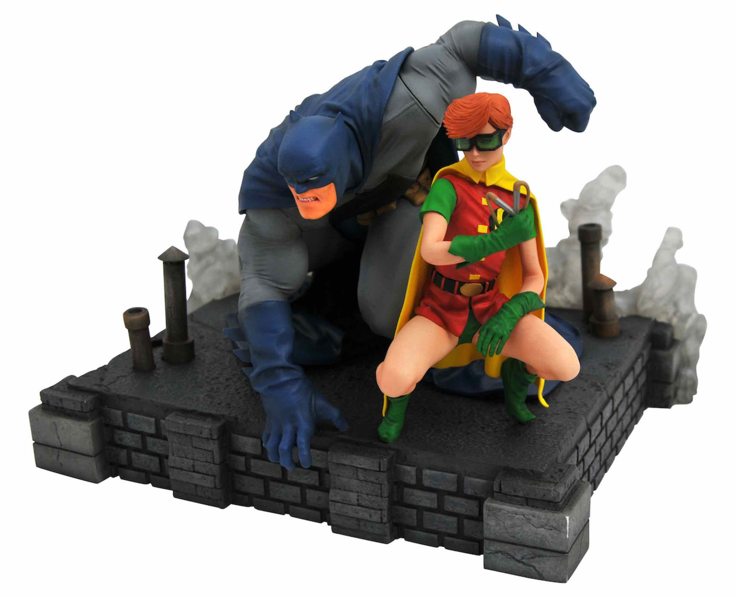 BATMAN Y ROBIN PVC DIORAMA ESTATUA 20 CM THE DARK KNIGHT RETURNS DC COMICS GALLERY