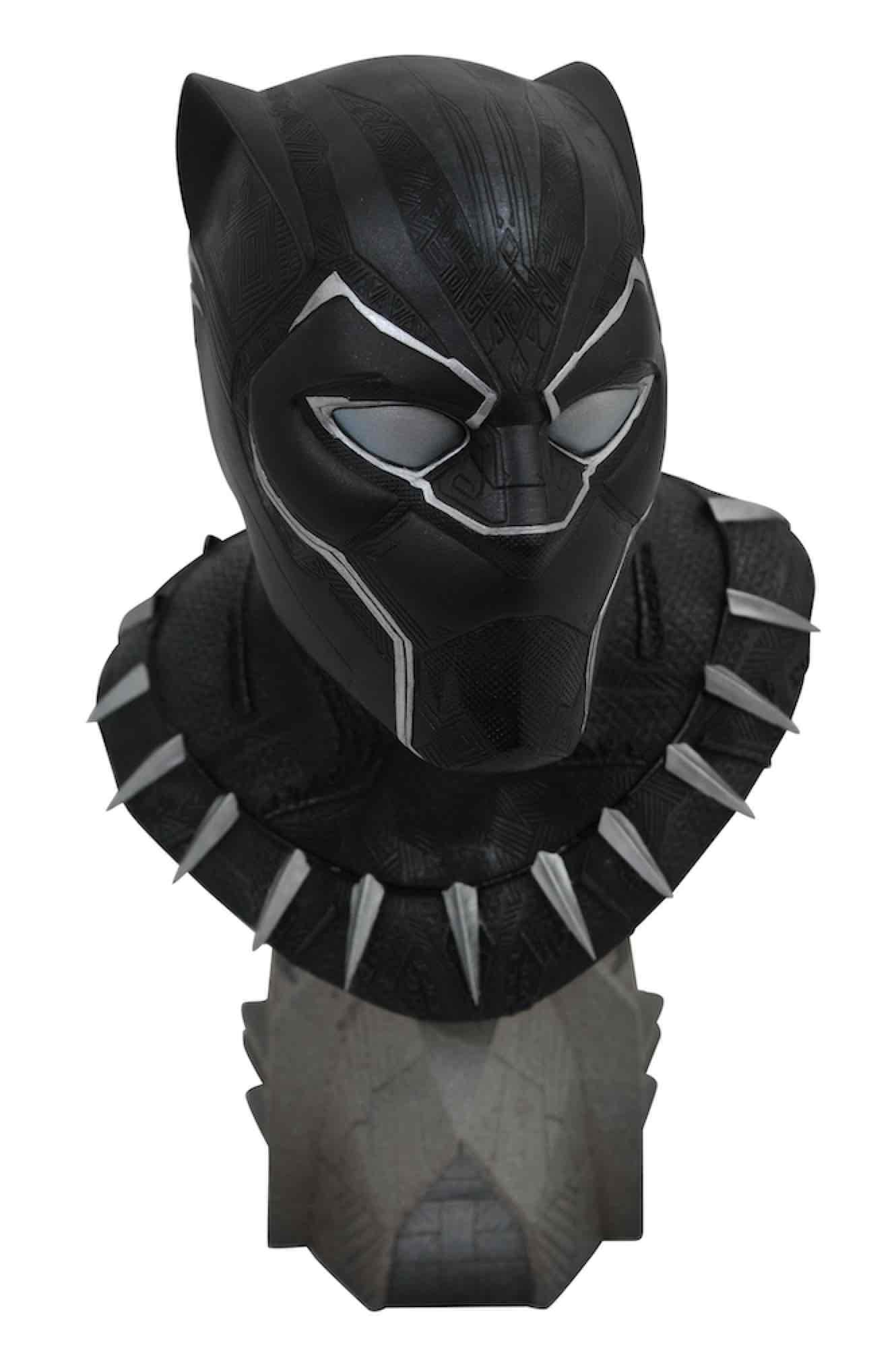 BLACK PANTHER BUSTO RESINA 25 CM 1/2 SCALE LEGENDS IN 3D MARVEL COMICS