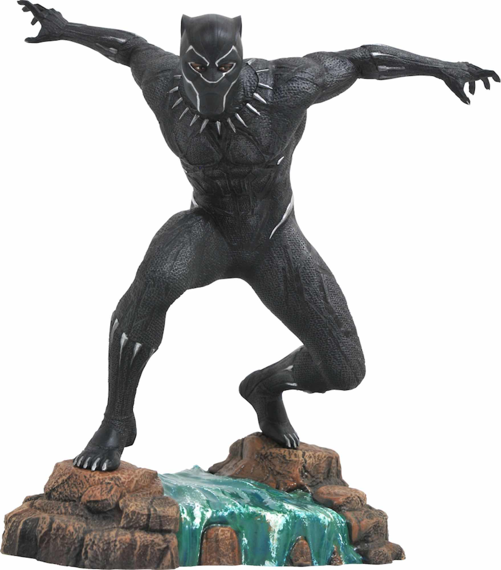 BLACK PANTHER FIGURA 22.8 CM PVC DIORAMA MARVEL GALLERY BLACK PANTHER MOVIE