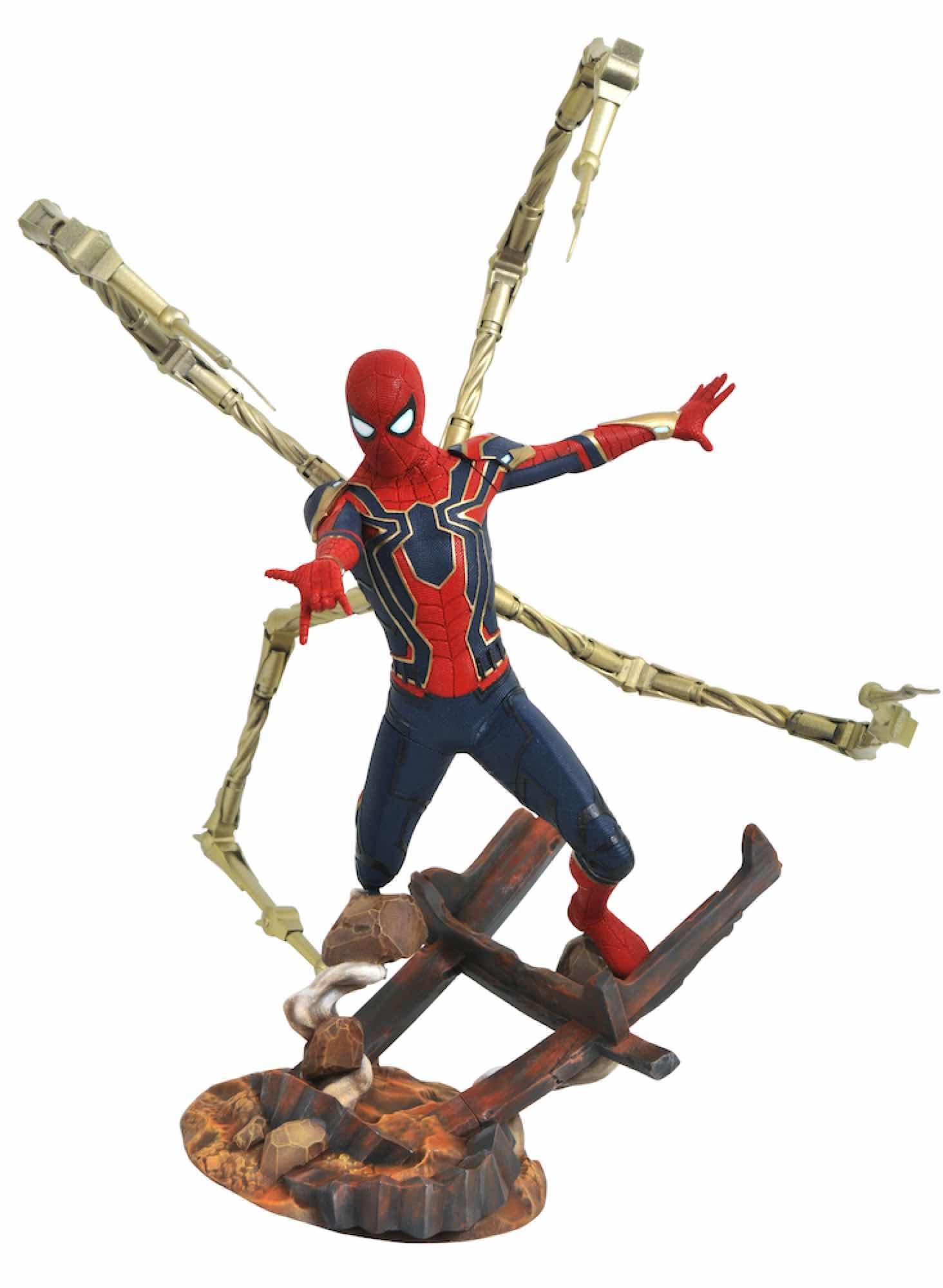 IRON SPIDER-MAN ESTATUA RESINA MARVEL PREMIER COLLECTION AVENGERS 3