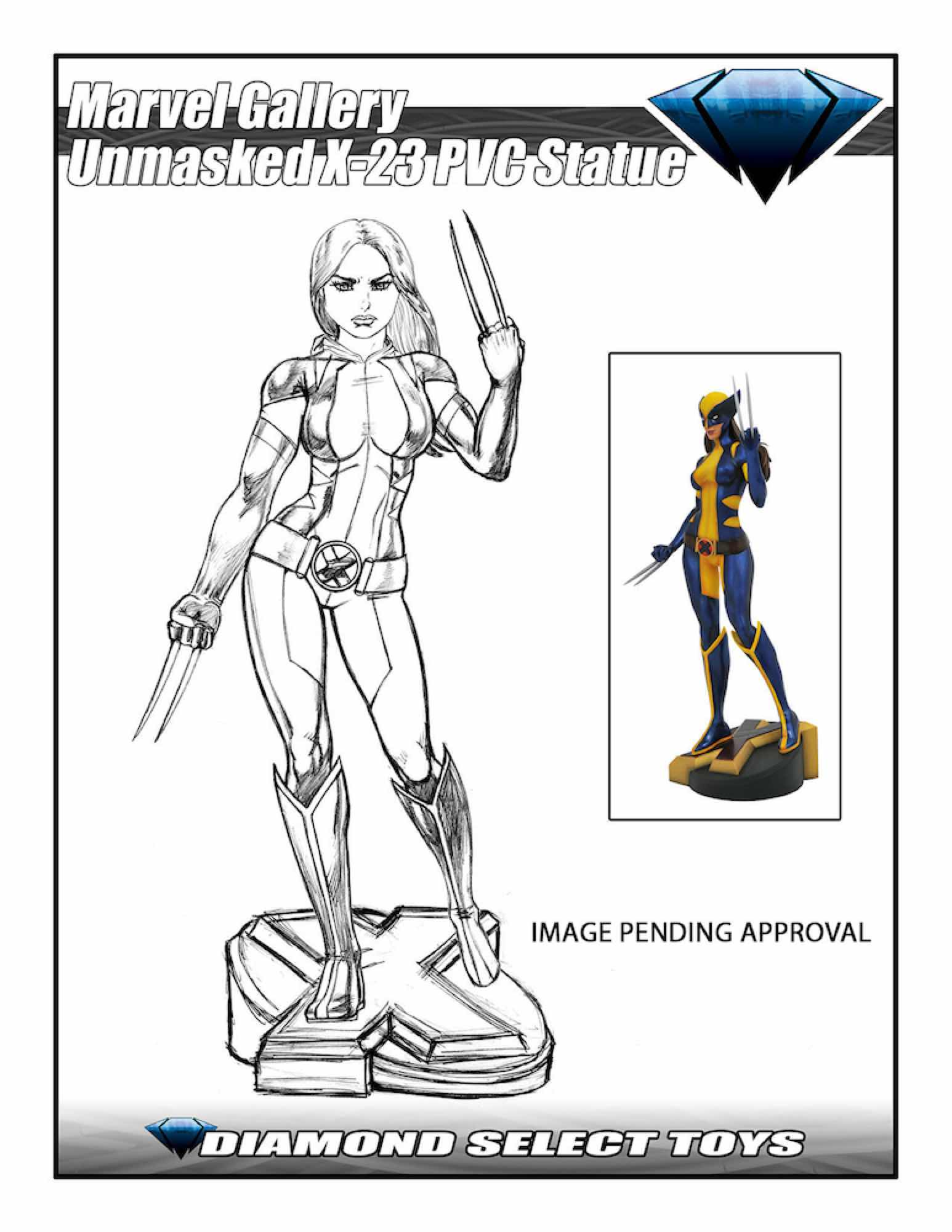 X-23 DESENMASCARADA SDCC 2018 ESTATUA PVC MARVEL GALLERY DIAMOND SELECT TOYS