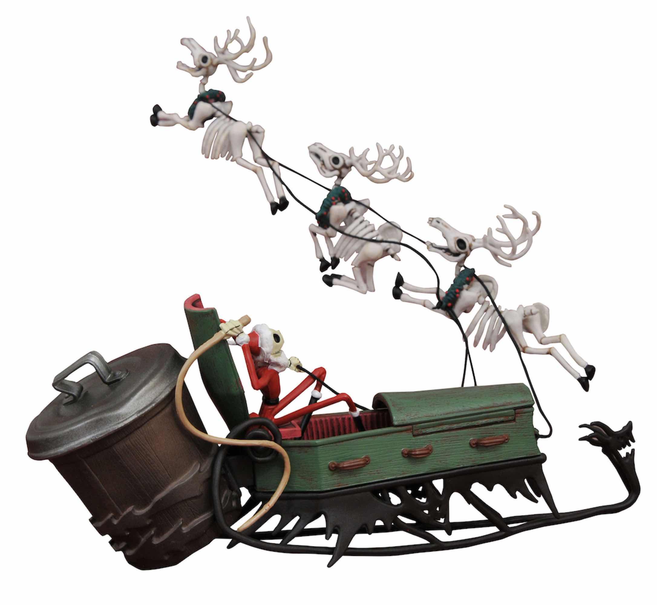JACK SKELLINGTON Y TRINEO SET PVC NIGHTMARE BEFORE CHRISTMAS