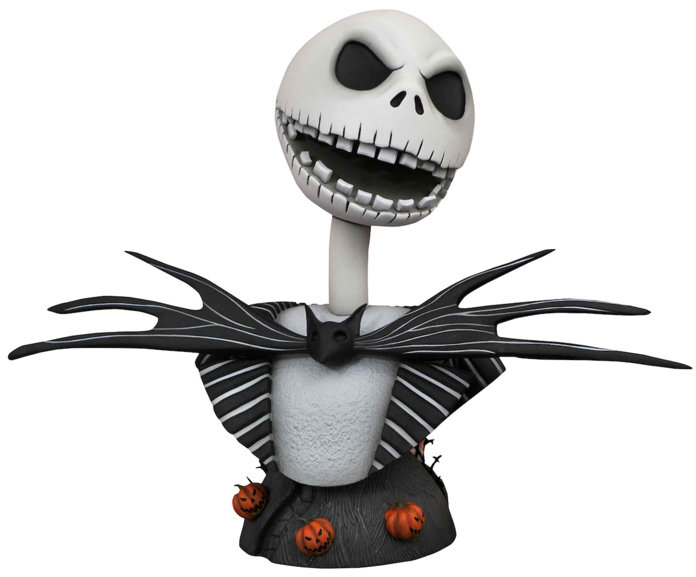 JACK SKELLINGTON BUSTO RESINA 25 CM 1/2 SCALE LEGENDS IN 3D THE NIGHTMARE BEFORE CHRISTMAS