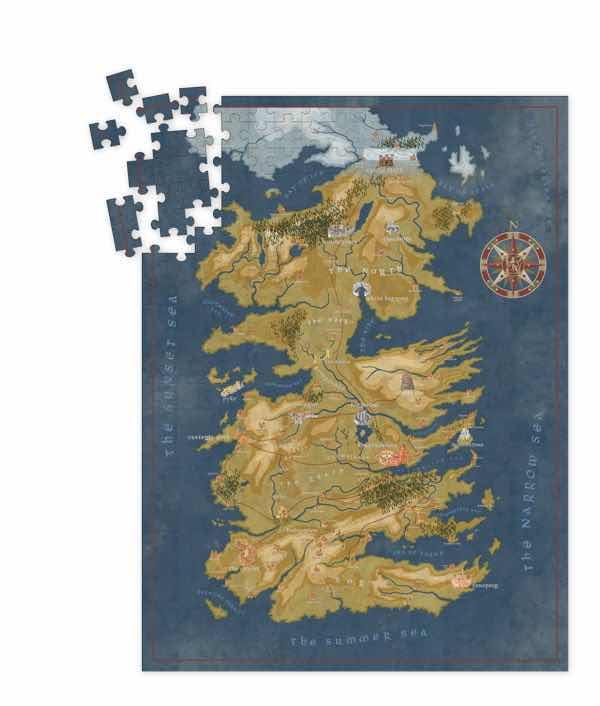 MAPA DE PONIENTE DE CERSEY LANNISTER PUZLE 1000 PIEZAS 51x68.60 CM GAME OF THRONES