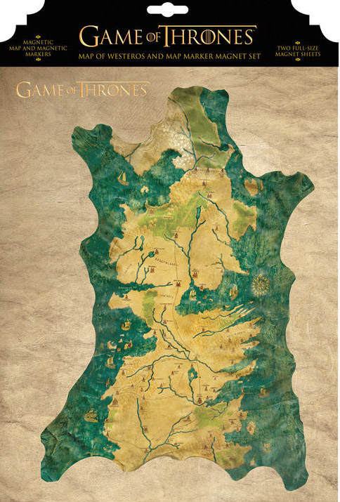 MARCADORES MAPA SET IMANES GAME OF THRONES