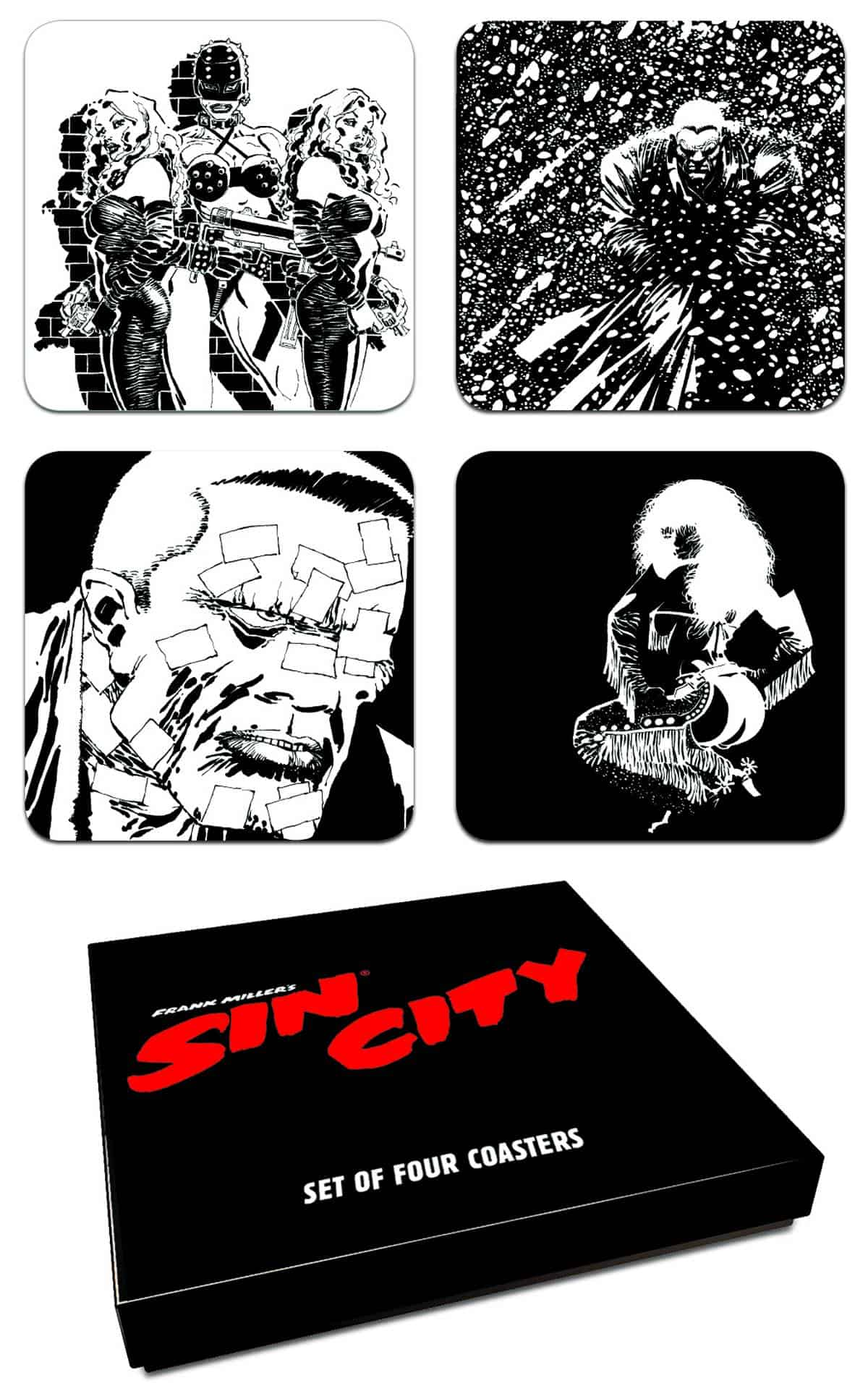 SIN CITY SET POSAVASOS SIN CITY