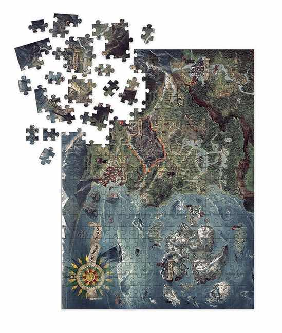 WILD HUNT NORTHERN REALMS MAP PUZLE 1000 PIEZAS 51x68,6 CM THE WITCHER 3