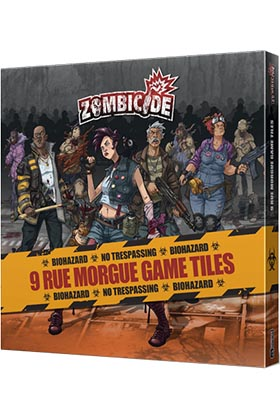 ZOMBICIDE. 9 RUE MORGUE GAME TILES