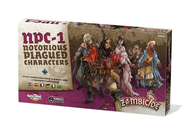 ZOMBICIDE: BLACK PLAGUE. NOTORIOUS PLAGUED CHARACTERS