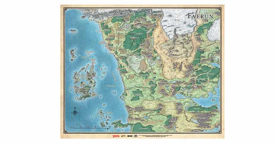 DUNGEONS & DRAGONS: MAPA DE FAERUN