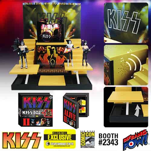 KISS ALIVE II SET 4 FIGURAS 8CM + STAGE CONVENTION EXCLUSIVE