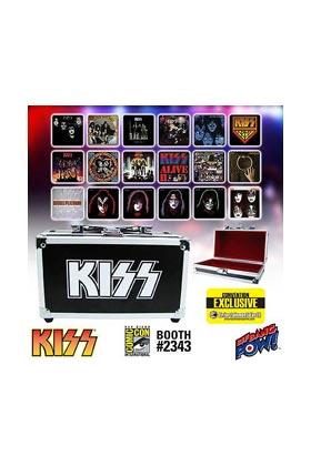 KISS ALBUM COVER SET 18 POSAVASOS + ESTUCHE GUITARRA KISS